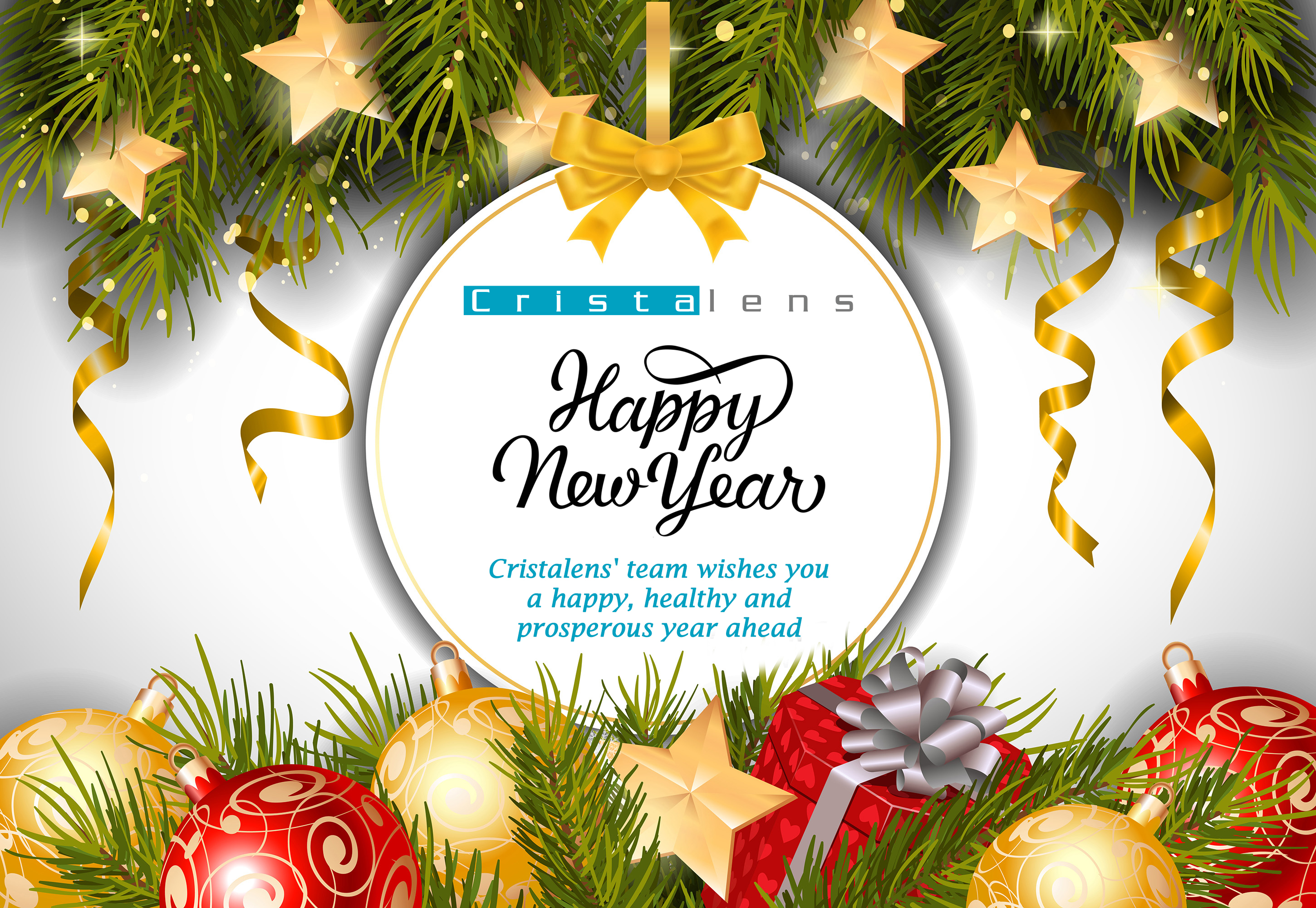 Happy New Year from Cristalens Team ! - Cristalens